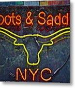 Boots And Saddle Nyc Metal Print