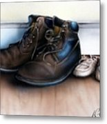Boots And Shoes Metal Print