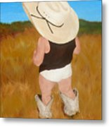 Boots And Skivvies Metal Print