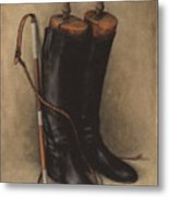 Boots And Whip Metal Print