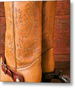 Boots With Spurs Metal Print by Garry Gay