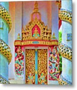 Bophut Temple In Thailand Metal Print