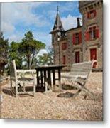 Bordeaux Chateau Metal Print