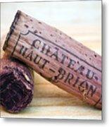 Bordeaux Wine Corks Metal Print