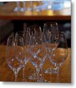 Bordeaux Wine Glasses Metal Print