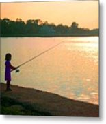 Born To Fish Metal Print