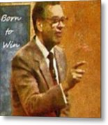 Born To Win Metal Print