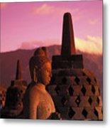 Borobudor Temple Metal Print