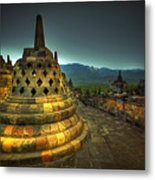 Borobudur Temple Central Java Metal Print