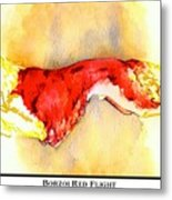 Borzoi Red Flight Metal Print