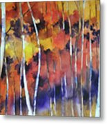 Bosco In Autunno Metal Print