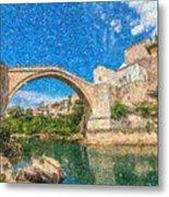 Bosnia Mostar Herzegovina Europe Travel Landmark Metal Print