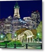 Boston Above Christopher Columbus Park Metal Print