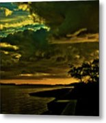 Boston Bay Sunrise Metal Print