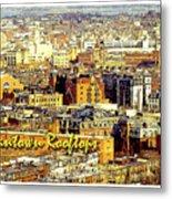 Boston Beantown Rooftops Digital Art Metal Print