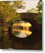 Boston Bridge Reflections Metal Print
