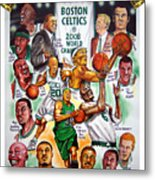 Boston Celtics World Championship Newspaper Poster Metal Print by Dave Olsen