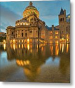 Boston Christian Science Building Reflecting Pool Metal Print