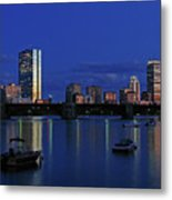 Boston City Lights Metal Print