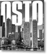 Boston Cityscape Metal Print