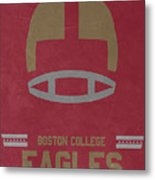 Boston College Eagles Vintage Football Art Metal Print