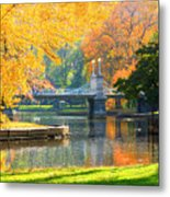 Fall Season At Boston Common Metal Print