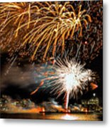 Boston Fireworks On The Charles Metal Print