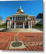 Boston Freedom Trail To State House Boston Ma Metal Print