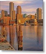 Boston Habor Sunrise Metal Print