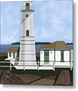 Boston Harbor Lighthouse On Brewster Island Metal Print