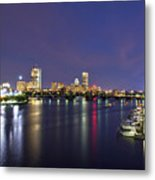 Boston Harbor Skyline Metal Print by Joann Vitali