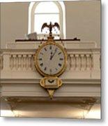 Boston Historical Meeting Room Clock Metal Print