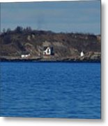 Boston Light And Great Brewster Island Metal Print