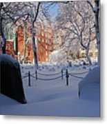 Boston Ma Granary Burying Ground Tremont St Grave Stones Metal Print
