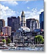 Boston Ma - Skyline With Custom House Tower Metal Print