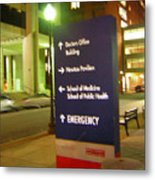 Boston Medical At Night Metal Print