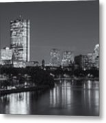 Boston Night Skyline V Metal Print by Clarence Holmes