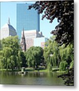Boston Public Garden Metal Print