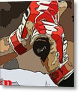 Boston Red Sox Original Typography Baseball Team  Metal Print