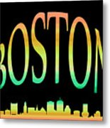 Boston Skyline 10 Metal Print