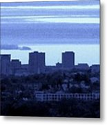 Boston Skyline From Quincy Metal Print