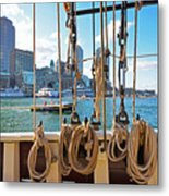 Boston Skyline From The Boston Harbor Metal Print