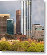 Boston Skyline Skyscraper Boston Ma Charles River Metal Print