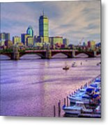 Boston Skyline Sunset Metal Print by Joann Vitali