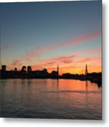 Boston Sunset Metal Print