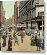 Boston: Washington Street Metal Print
