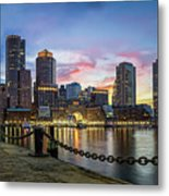 Boston,ma Sunset Metal Print