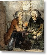 Boswell And Johnson, 1786 Metal Print