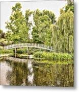 Botanical Bridge - Van Gogh Metal Print