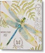 Botanical Dragonfly-jp3418b Metal Print